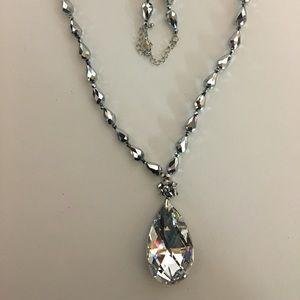 Park Lane Teardrop Silver Bling Necklace